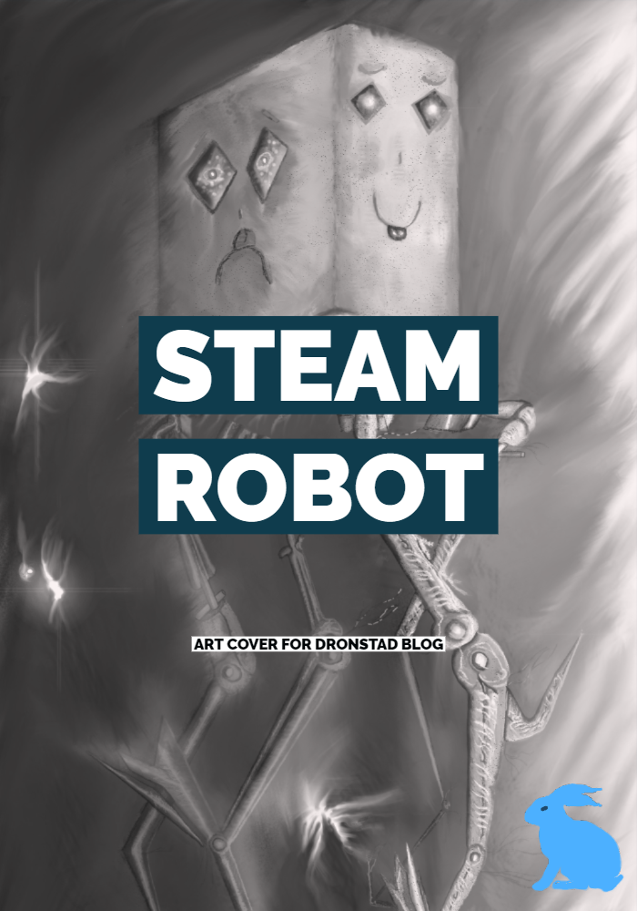Steam Robot Art Cover for Dronstad Blog