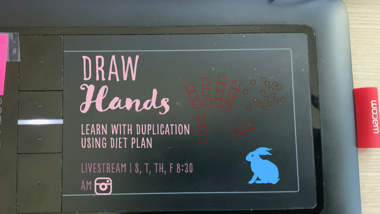 Draw Hands with duplication diet plan